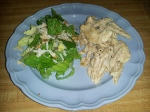 Cream Cheese Pasta and Salad