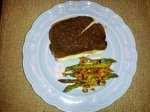 Sandwich and Asparagus