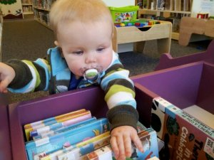 Little Man at the Library