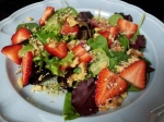 Strawberry Walnut Salad with Poppy Seed Vinaigrette Dressing
