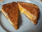Three Cheese Grilled Cheese with Bacon