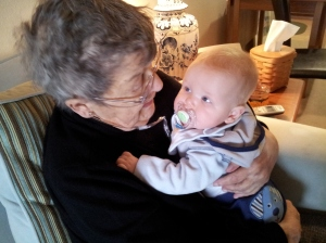 Little Man and Great Grandma