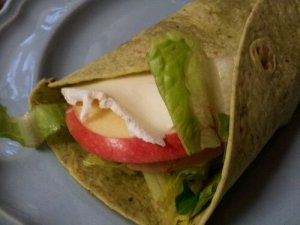 Turkey Apple Brie Wrap